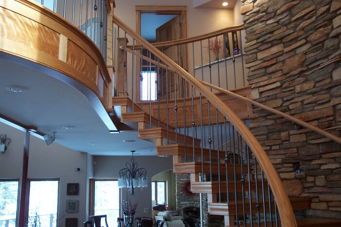 Custom Residential Iron Stairs by UP Fab Negaunee MI